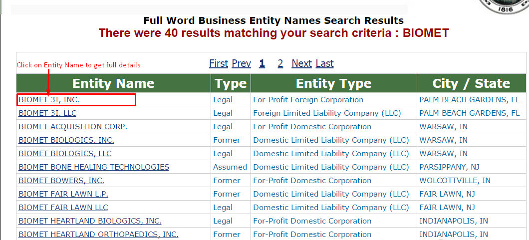 Department of state corporations search