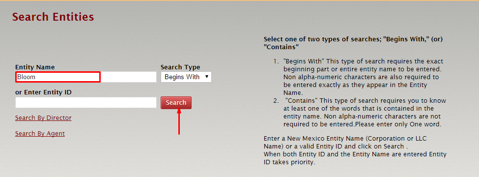 New Mexico Corporate Entity Search