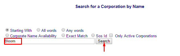 North Carolina Corporation Search