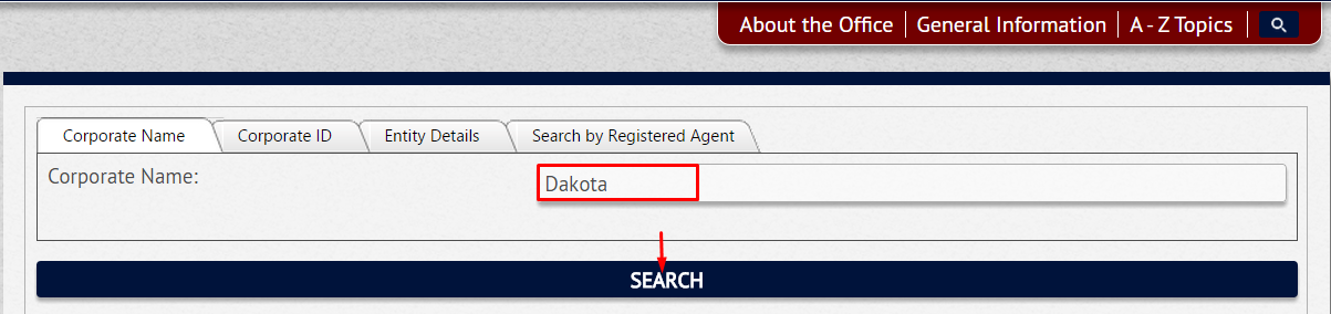 South Dakota Corporation Entity Search