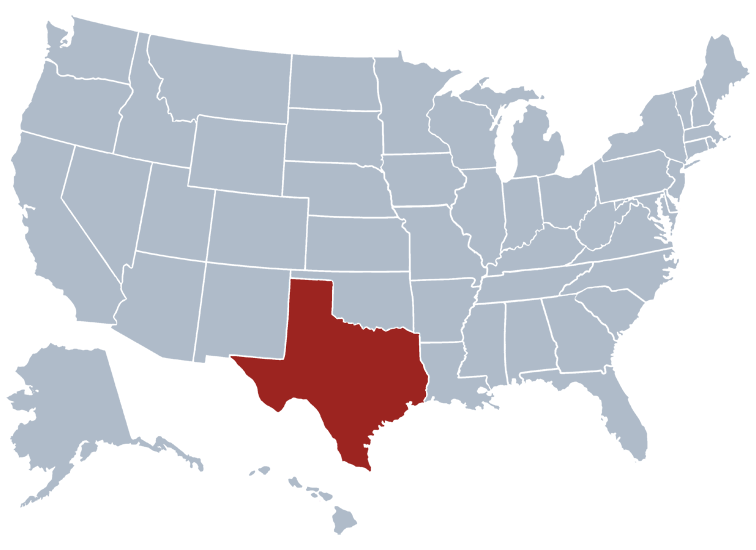 Texas state map