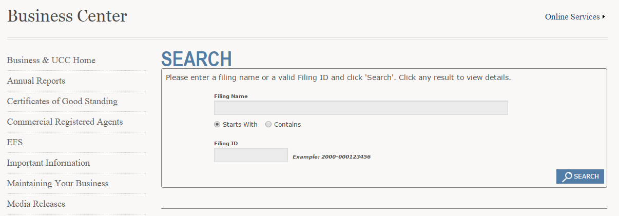 How to do a Wyoming Business Entity Search