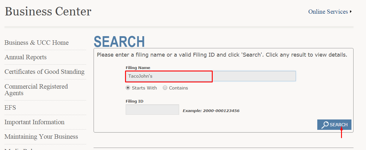 Wyoming Corporation Entity Search