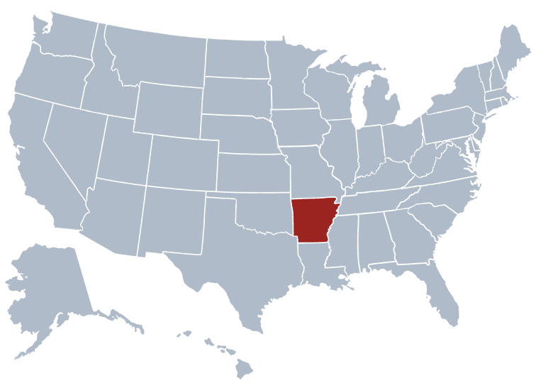Arkansas Business Entity Search - State Map