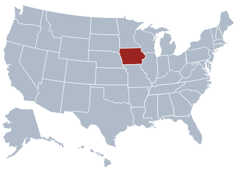 Iowa business entity search - state map
