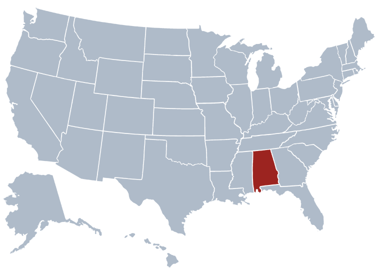 alabama entity search state map
