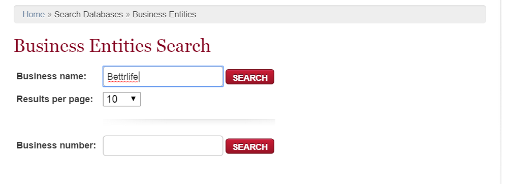 iowa business entity search page