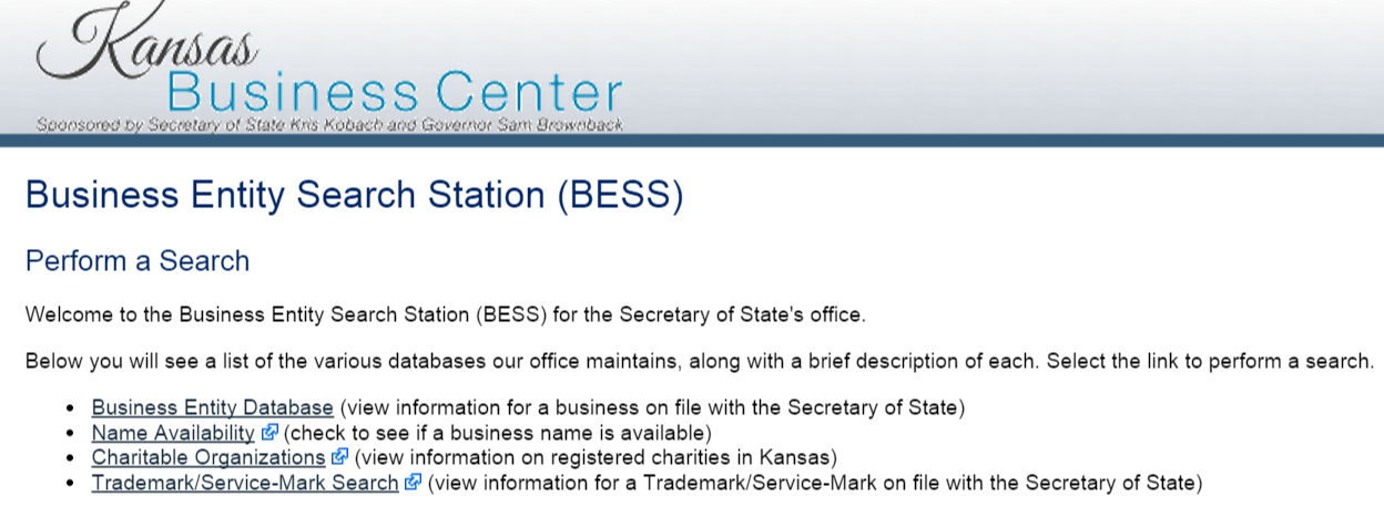 kansas business information database