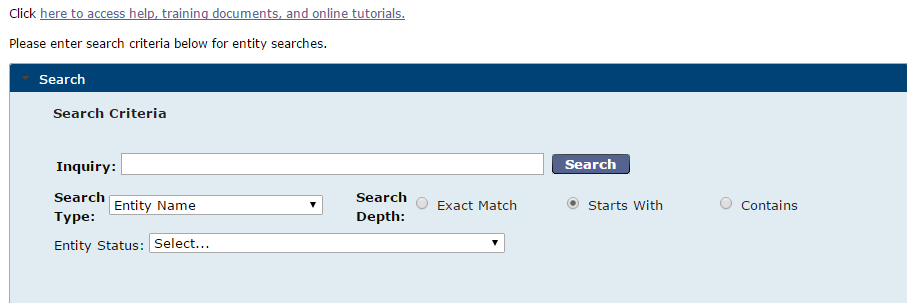 Georgia Business Entity Search