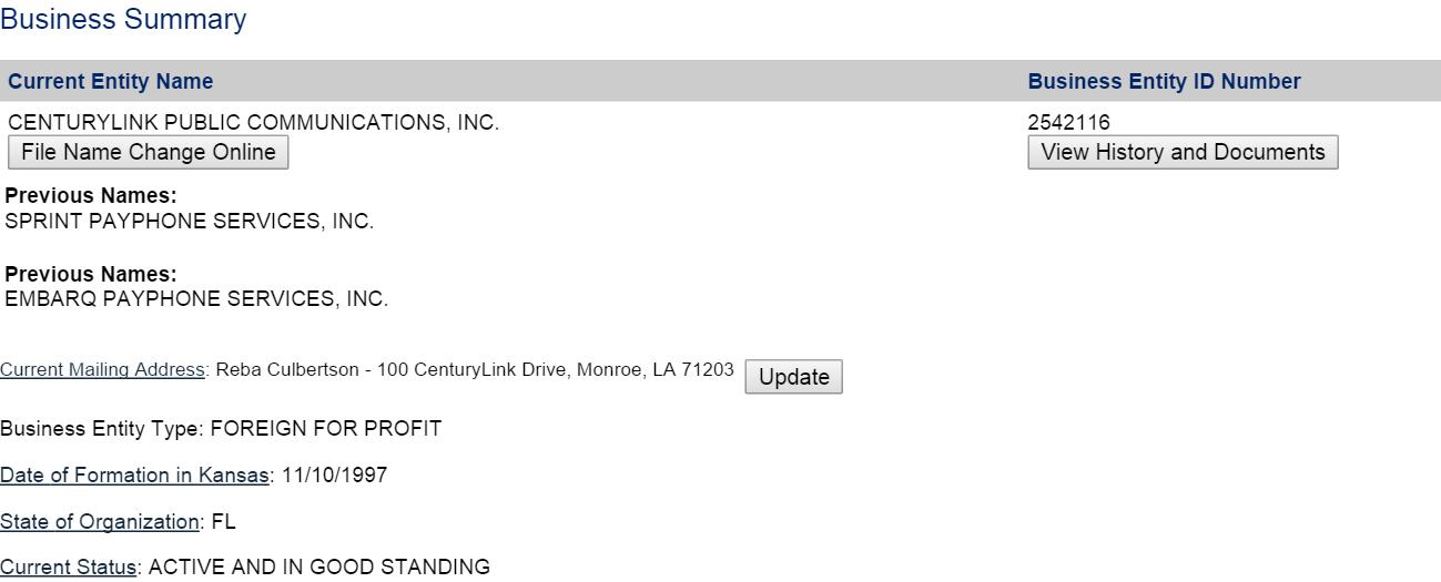 Corporation Details