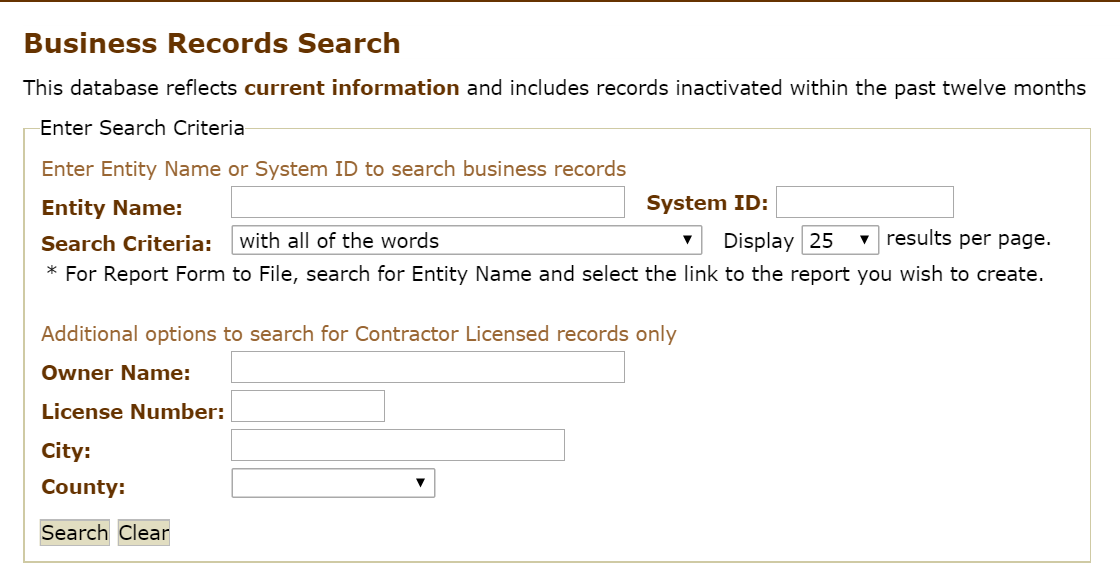 How to do a North Dakota Business Entity Search