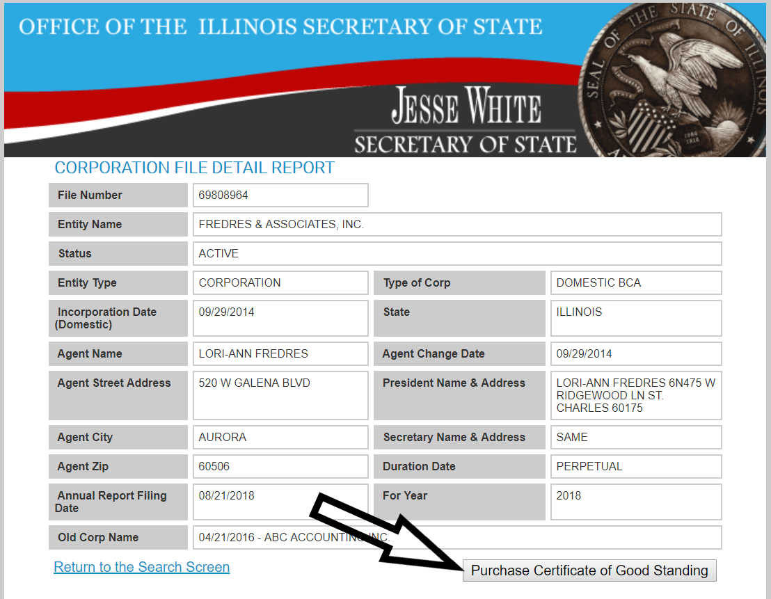 How To Get A Certificate Of Good Standing In Illinois