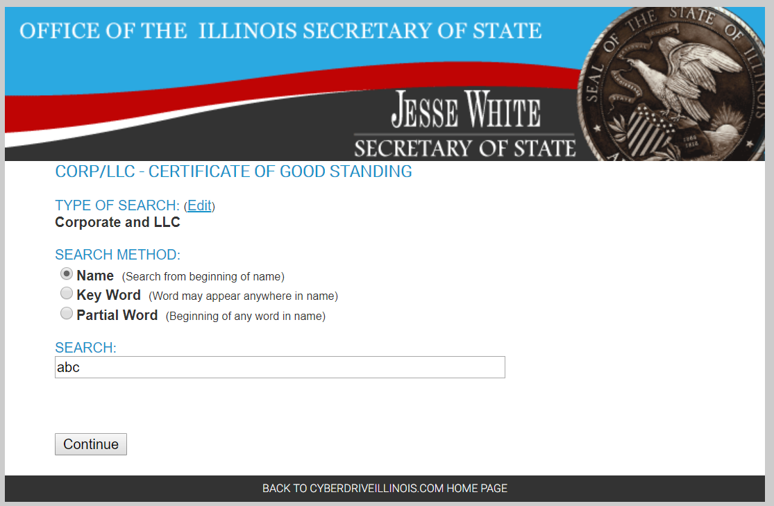 how to get an illinois certificate of good standing