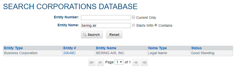 Alaska Business Name Search