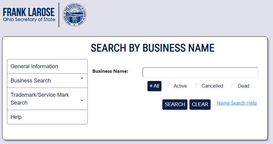 How to Search an Ohio Business Entity Search
